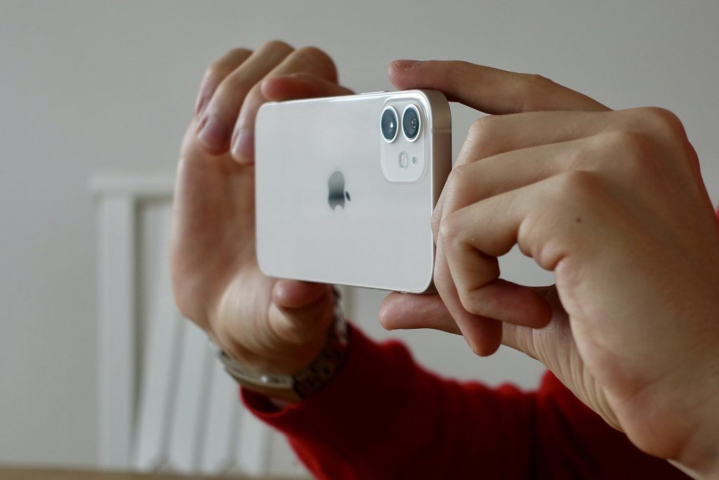 taking pictures with an iPhone 12 camera