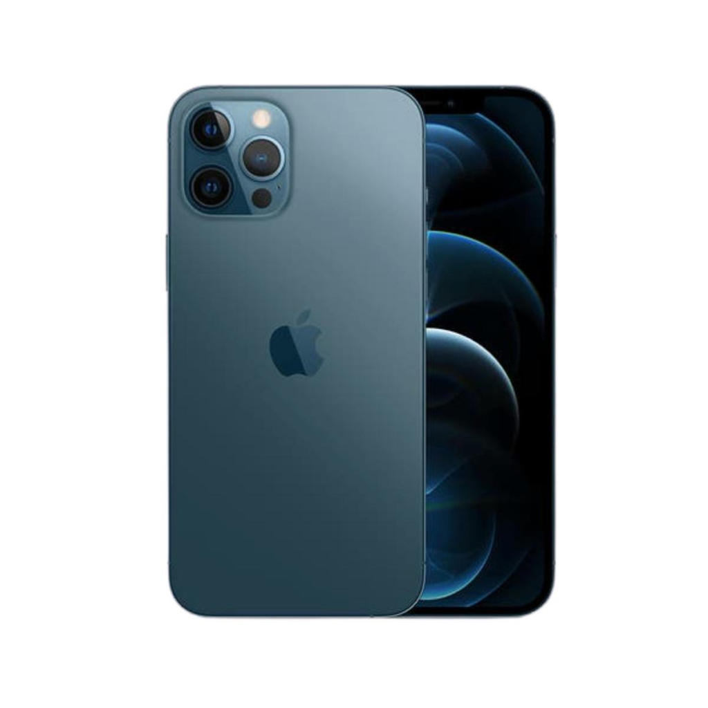 The display of pacific blue iPhone 12 Pro Max